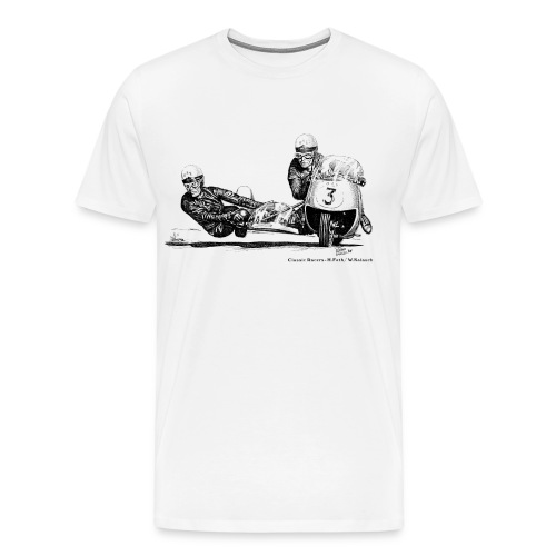 Sidecar racers - Helmut Fath & Wolfgang Kalauch - Men's Premium T-Shirt