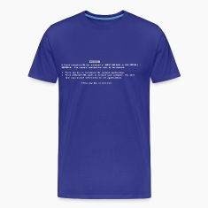 Classic Blue Screen of Death BSOD T-Shirts