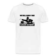 T-Shirts ~ Men's Premium T-Shirt ~ We will Barry You! Obama with shovel