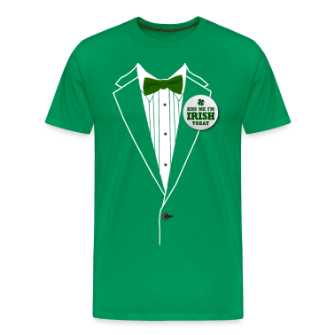 St. Patrick's Day Tux T-Shirts