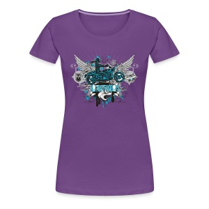 Not Just For Boys on Purple - Women's Premium T-Shirt