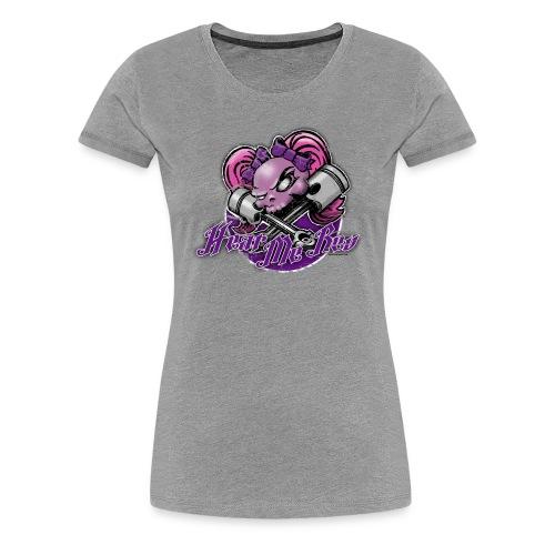 Girly Skull on grey - Women's Premium T-Shirt