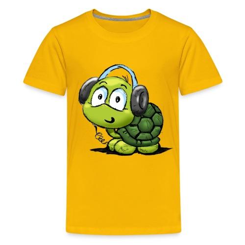 Kids' Premium T-Shirt - yelloe,turtle,t-shirt,music,kids,headphones,girls,boys