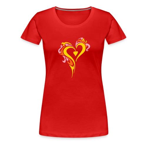 Heart on Fire - Women's Premium T-Shirt