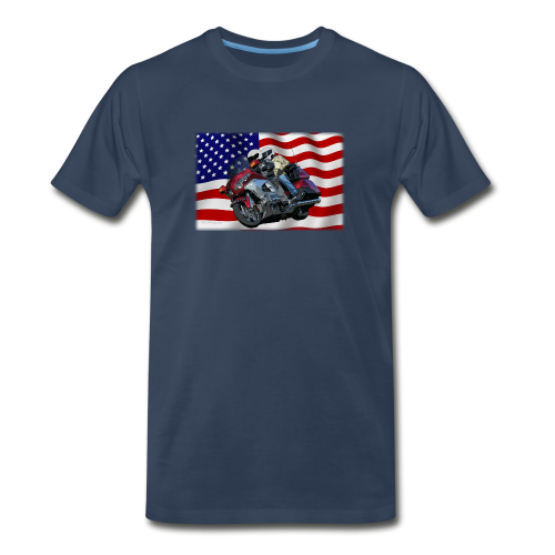 Men's Premium T Front FlagWing Lean - Men's Premium T-Shirt