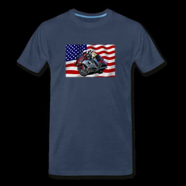 Men's Premium T Front FlagWing Lean