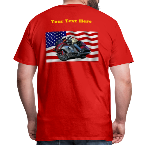 Men's Premium T Back FlagWing Lean Custom - Men's Premium T-Shirt