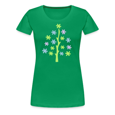 Christmas trees Women's Plus Size Basic T-Shirt