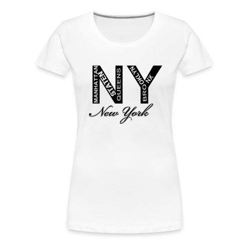 New York White Women T-shirt - Women's Premium T-Shirt