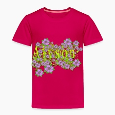 Alyson Floral Lavender Flowers yellow Gold Baby & Toddler Shirts