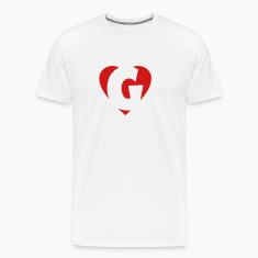I love X T-Shirt - Heart X - Heart with letter X
