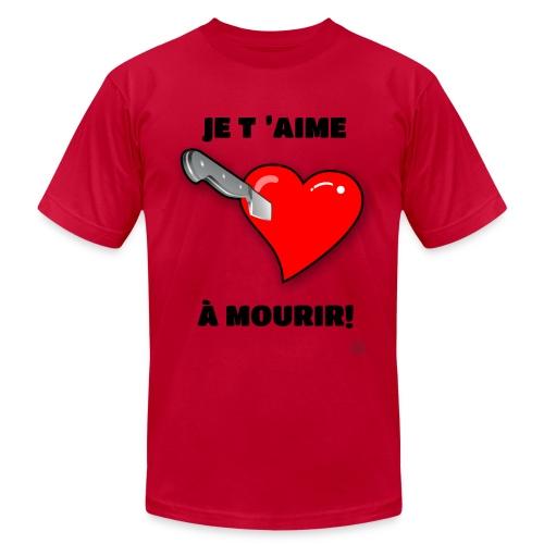 Je t'aime à mourir - Men's Fine Jersey T-Shirt