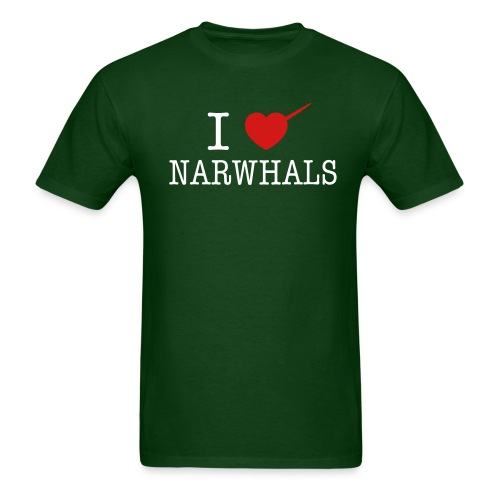 I Heart Narwhals  - Men's T-Shirt