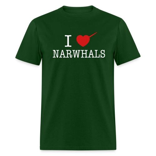 I Heart Narwhals  - Men's T-Shirt