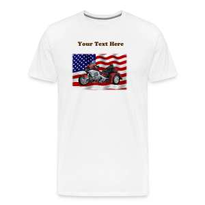 Men's Prem T Frt FlagwTrike Custom - Men's Premium T-Shirt