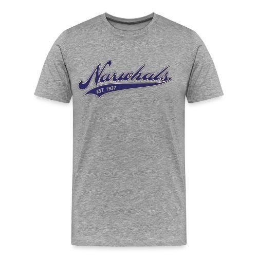 Narwhal Script - Men's Premium T-Shirt