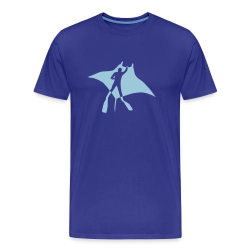 animal t-shirt manta ray scuba diver diving dive fish sting ray - Men's Premium T-Shirt