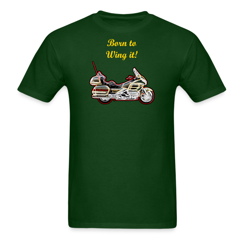 Men's T-Shirt - This premium t-shirt is as close to perfect as can be, and has a relaxed but tailored fit. It's optimized for all types of print and will quickly become you favorite t-shirt. Soft and comfortable, durable and thick. Fabric Weight of 5.29 oz.. Sizes range from S-5XL. It proudly displays on the front, your favorite touring bike in a one-of-a-kind art/deco/neon image that will definitely stand out! You, the customer can change the text in content, size, or color to what you desire, purchase as is, or delete the text and have the image only for a lower price. Image only size is approximately 8.5 x 5.6 inches.