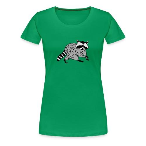 animal t-shirt raccoon racoon coon bear - Women's Premium T-Shirt