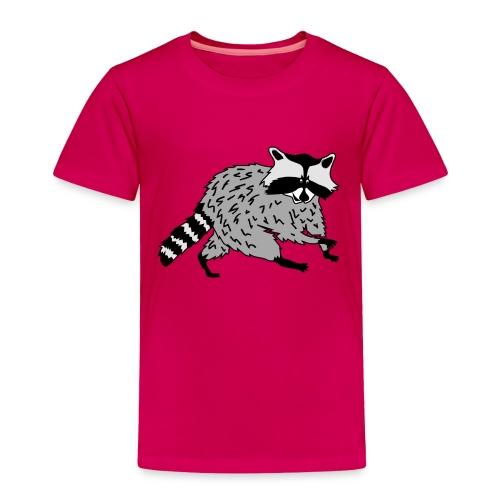 animal t-shirt raccoon racoon coon bear - Toddler Premium T-Shirt