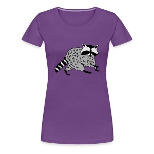 animal t-shirt raccoon racoon coon bear - Women's Premium T-Shirt