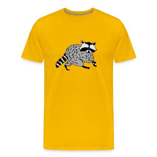 animal t-shirt raccoon racoon coon bear - Men's Premium T-Shirt