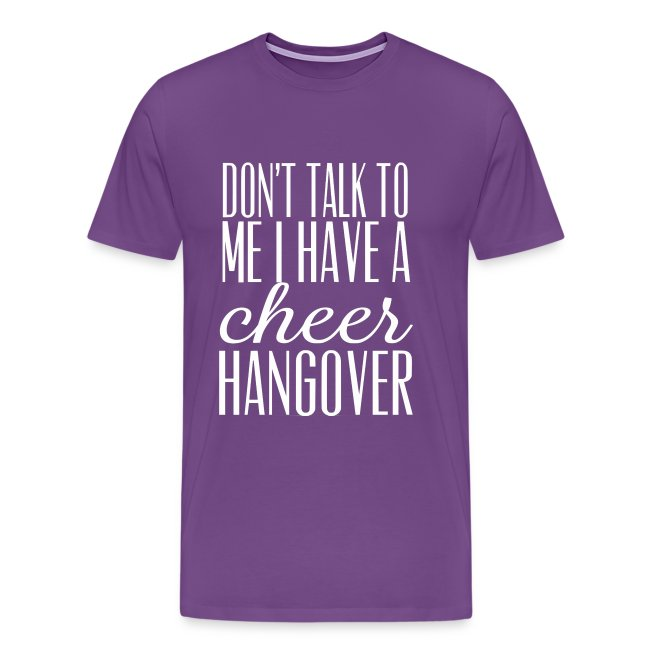cheer hangover t-shirt