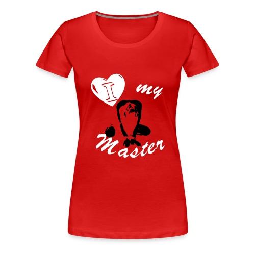 T-Shirt - Slavegirl - I love my master - Women's Premium T-Shirt