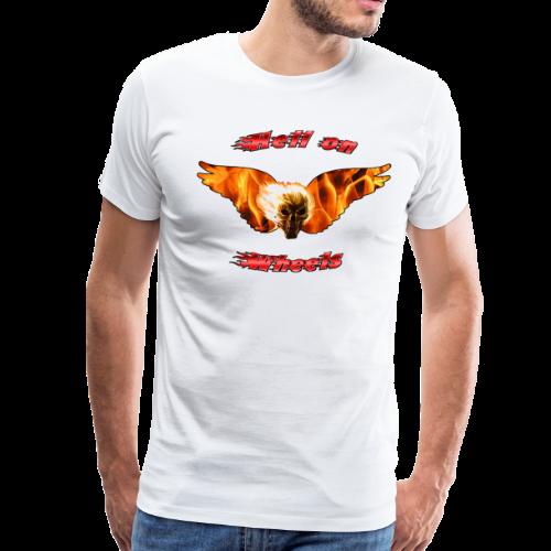 Mens Premium T Hell on Wheels (Front) - Men's Premium T-Shirt