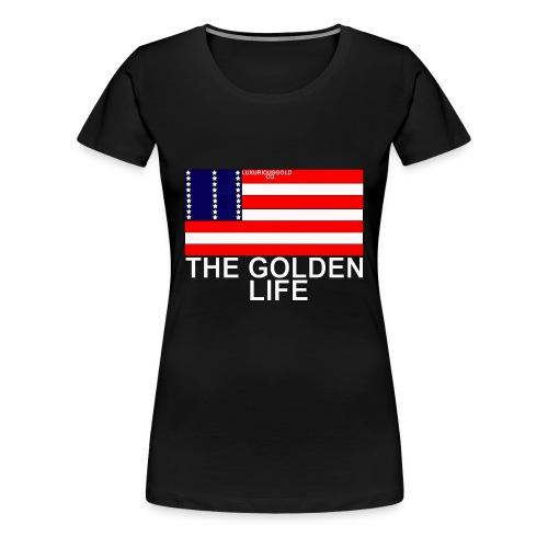 The Golden Life Womens T-Shirt - Women's Premium T-Shirt