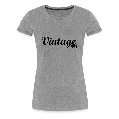 Vintage '72 Short for Women - Women's Premium T-Shirt