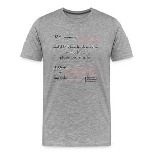 Drunk! T-Shirts - Men's Premium T-Shirt