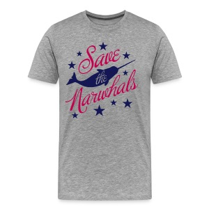 Save the Narwhals (navy/red) - Men's Premium T-Shirt