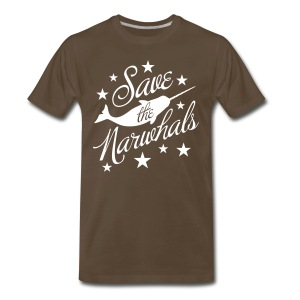 Save the Narwhals (white) - Men's Premium T-Shirt