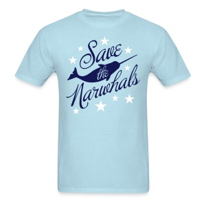Save the Narwhals (navy/white) - Men's T-Shirt