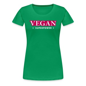 VEGAN SUPERPOWER - Women's Premium T-Shirt