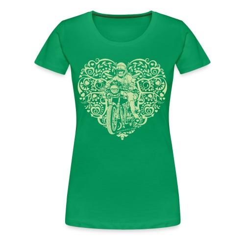 Motorcycle Hear Plus - Women's Premium T-Shirt