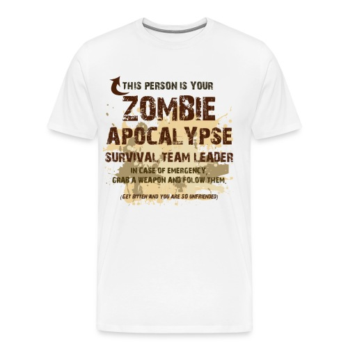 Zombie Apocalypse 02 - Men's Premium T-Shirt