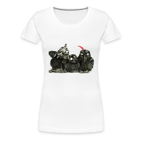 Three Young Crows - Women's Premium T-Shirt