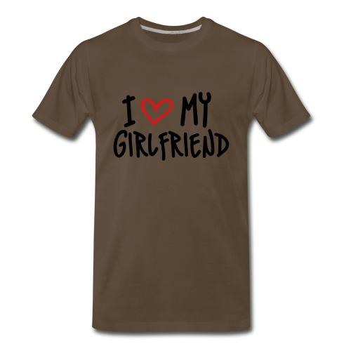I Love My Girlfriend Short Sleeve Shirt - Men's Premium T-Shirt