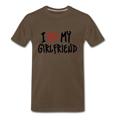 I Love My Girlfriend Short Sleeve Shirt - Men's Premium T-Shirt
