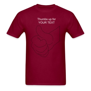 thumbs up for TYPE YOUR TEXT - Men's T-Shirt
