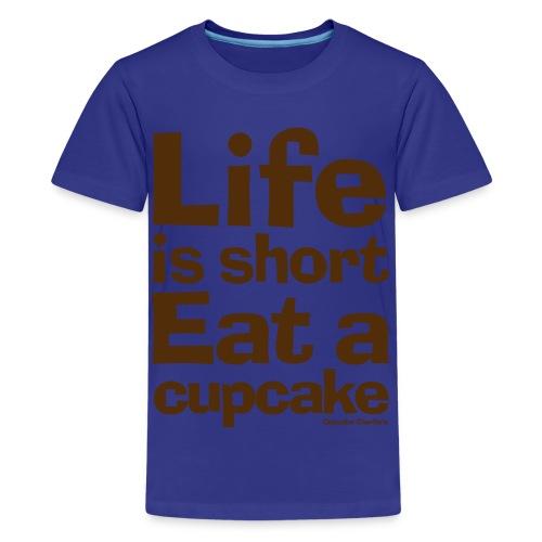 Life is Short...Eat a Cupcake Kids Tee - Brown - Kids' Premium T-Shirt