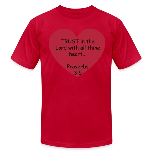 Trust in the Lord - Pink - Men's Fine Jersey T-Shirt