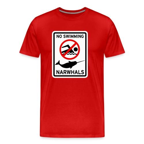 No Swimming Narwhals - Men's Premium T-Shirt