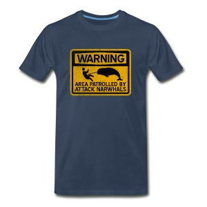 Attack Narwhals (Vintage) - Men's Premium T-Shirt