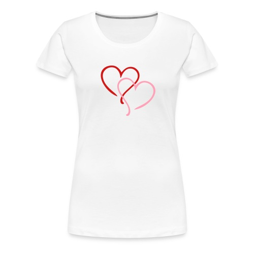 Hearts - Women's Premium T-Shirt