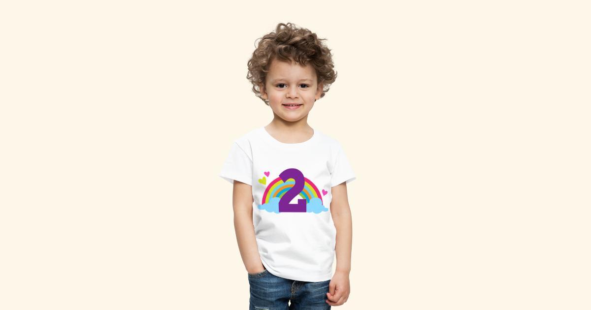 2nd Birthday Rainbow Toddler T Shirt