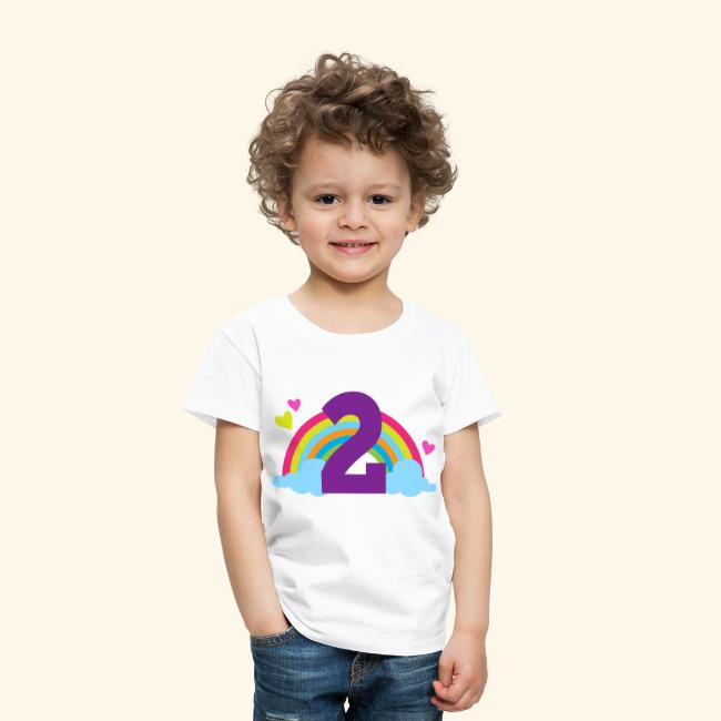 2nd Birthday Rainbow Toddler T Shirt
