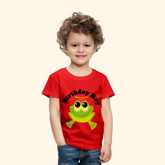 Birthday Boy Frog Toddler T Shirt